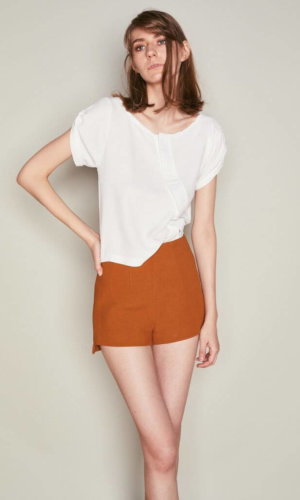 Asymmetric Button Down Top