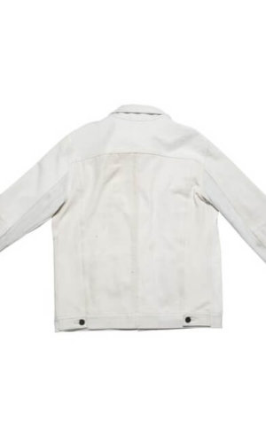 White denim boyfriend Jacket