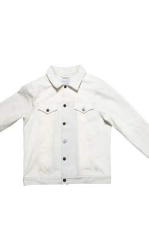 White Deinim Boyfriend Jacket
