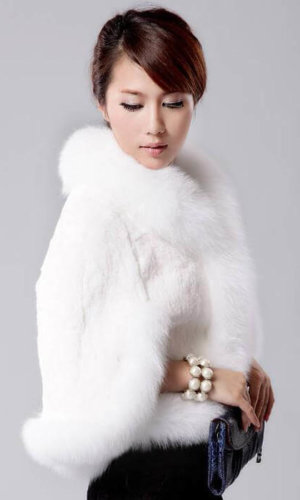 Faux Fur Cape Overcoat