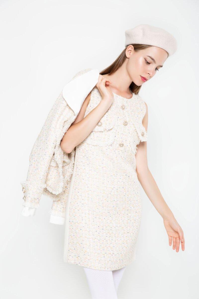 Tweed Midi Dress