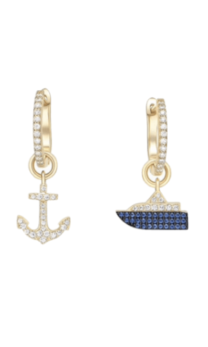 Boat and anchor earrings