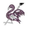 Flamingo Coloured Gemstone Earrings