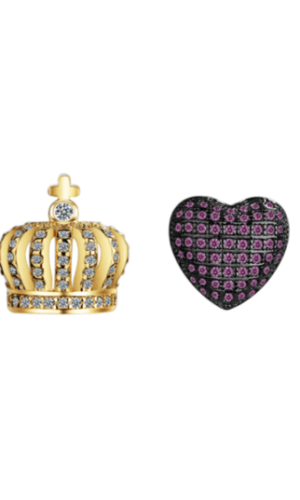 Royal love earrings