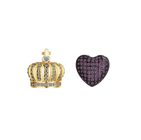Royal love earrings
