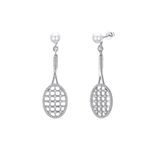Tennis Racket Earrings