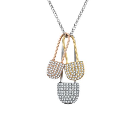 Tripple Padlock Necklace