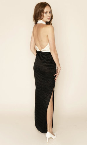 Dakota Backless Halterneck Lace Dress