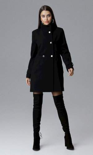 Figl Black Midi Coat