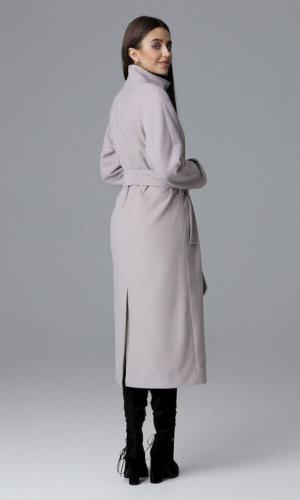 Figl Beige Wrap belted Coat