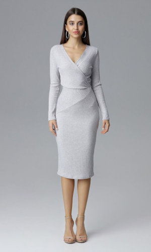 Grey Figl Cocktail Dress