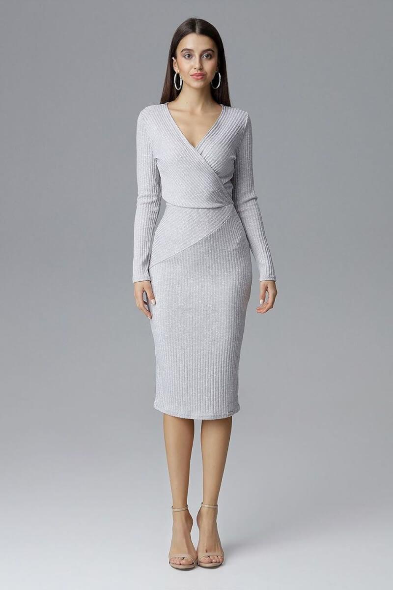 Grey Figl Cocktail Dress