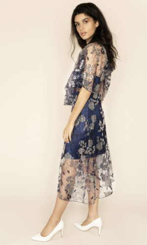 Doutzen Embroidered Lace Co-ord Midi Dress