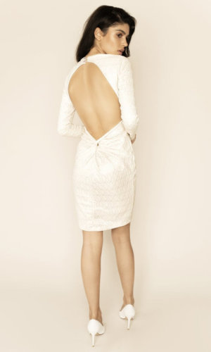 Sarvin White dress