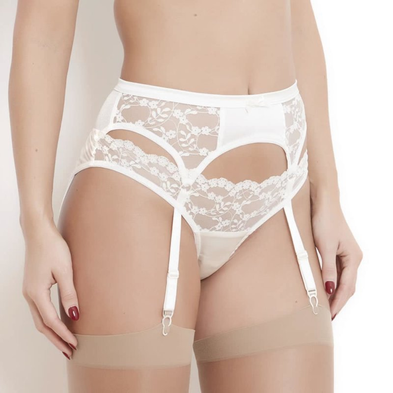 Sophia White Lace Suspender Belt