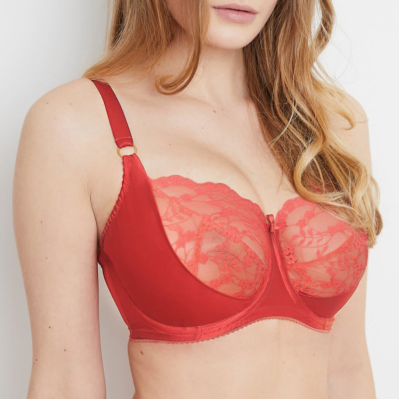 red lace bra