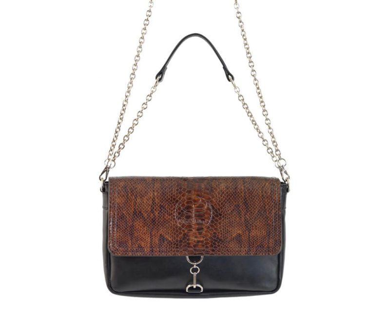 Luxe Caramel Clutch Bag
