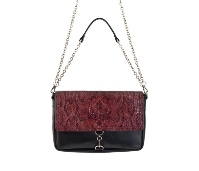 Ruby Luxe Clutch Leather Bag