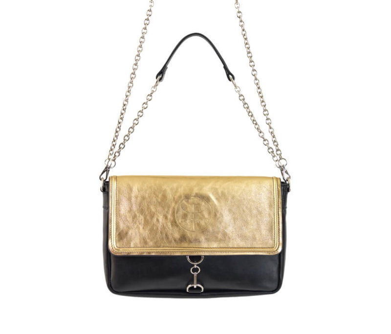 Vintage Gold Clutch Leather Bag