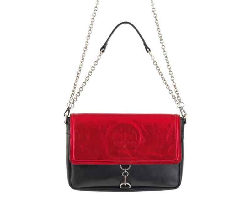 Vintage Red Clutch Leather Bag
