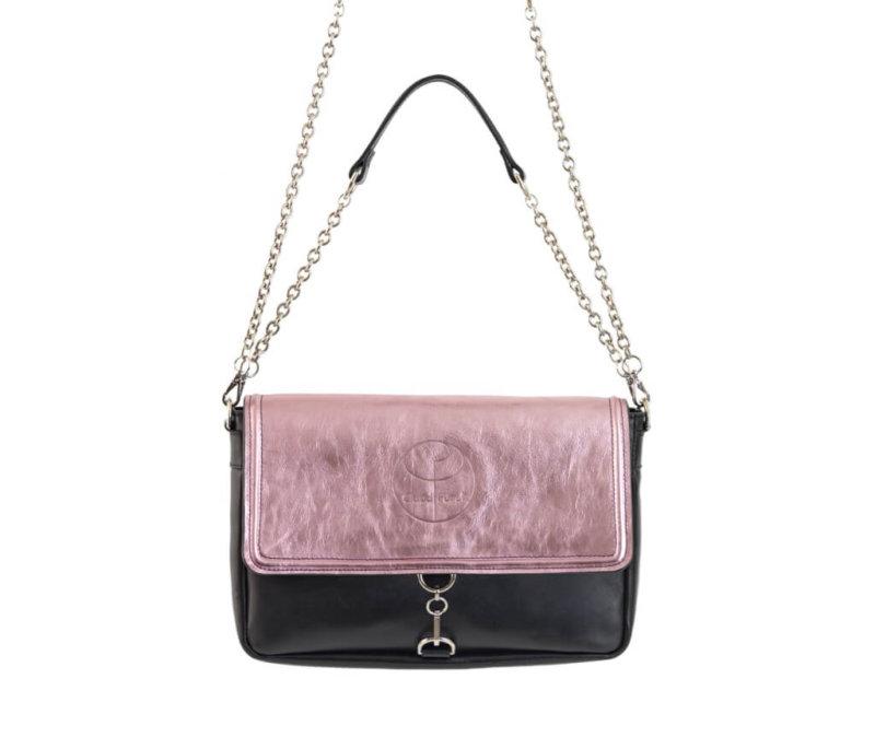 Vintage Rose Clutch Leather Bag