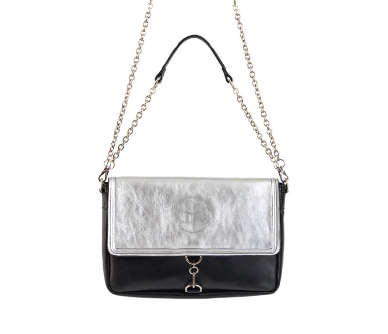 Vintage Silver Clutch Leather Bag