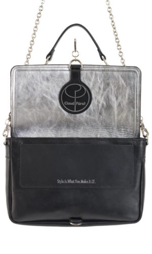 Vintage Silver Clutch Leather Bag