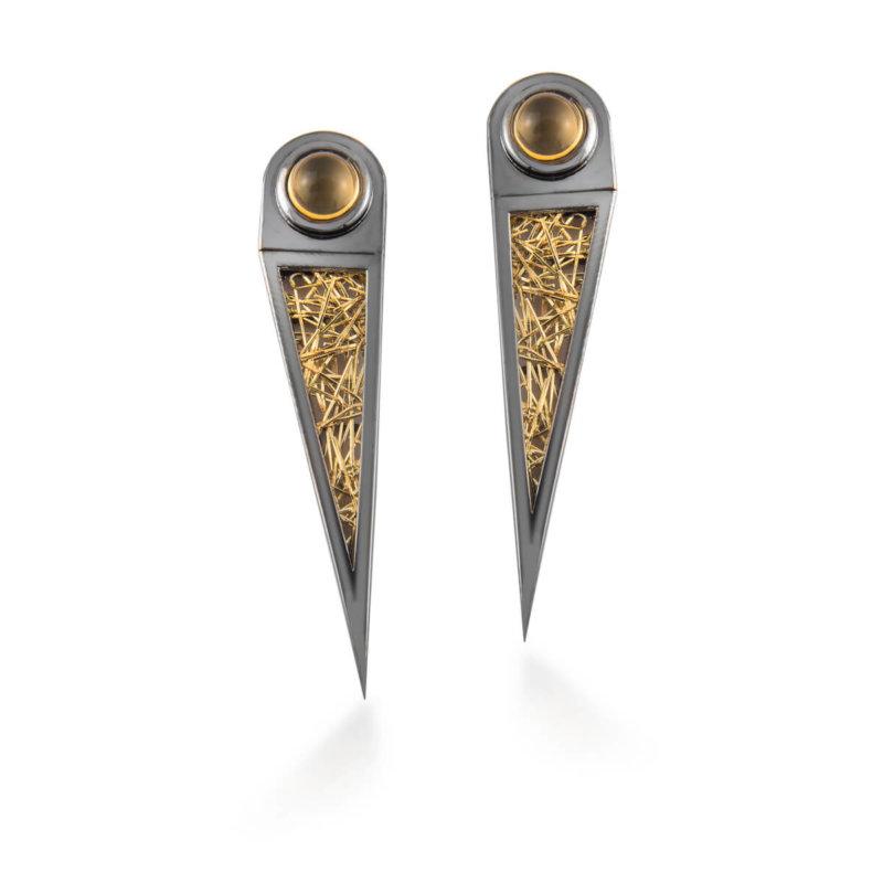 Nyx Mono 24K Gold, 925 Silver Earring