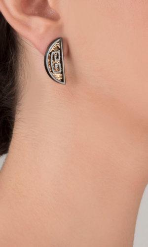 Selene Mono 24K Gold, 925 Silver Earring