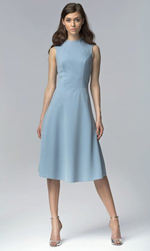 Blue Aline Midi Dress
