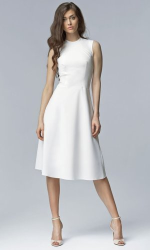 White Aline Midi Dress