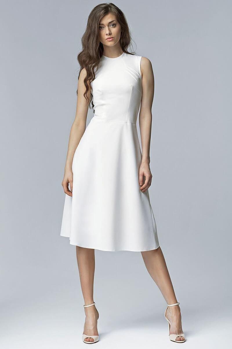 White Aline Midi Dress