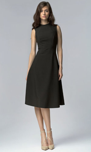 Black Aline Midi Dress
