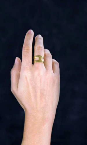 H Ring – 18K Gold Plated