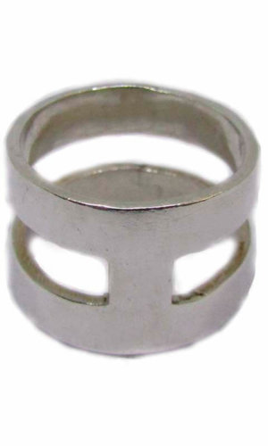 H Ring – Sterling Silver