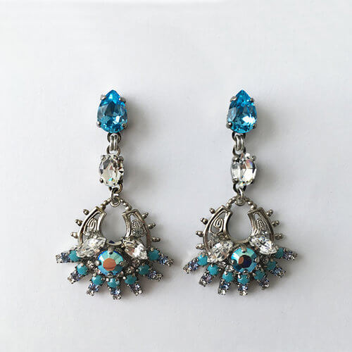 Flores Aquamarine Drop earrings