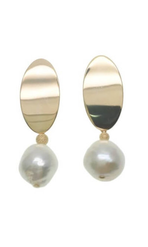 Edison Pearl With Modern Earrings