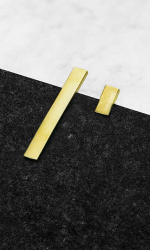 Line Earrings – 18K Gold Plated