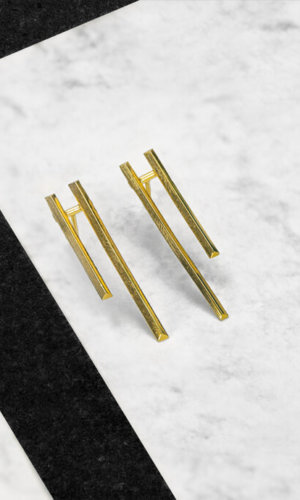 Parallel Earrings – 18K Gold Plated
