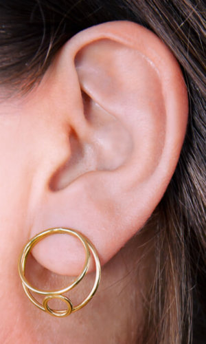 Bound Earrings – 18K Gold Plated