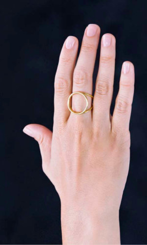 Bound Ring – 18K Gold Plated.