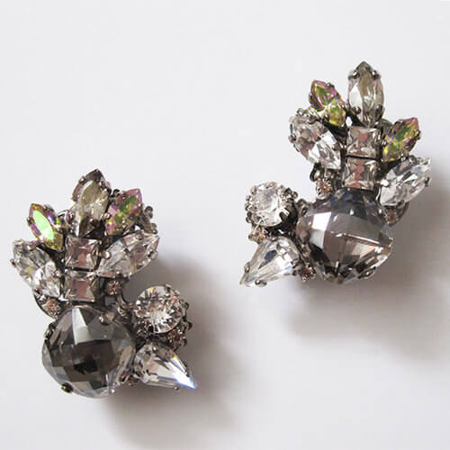 Black Diamond Crystal Earrings.