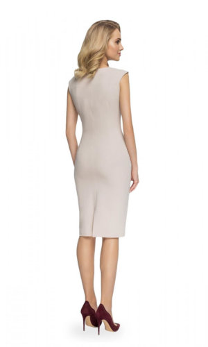 Beige cocktail dress