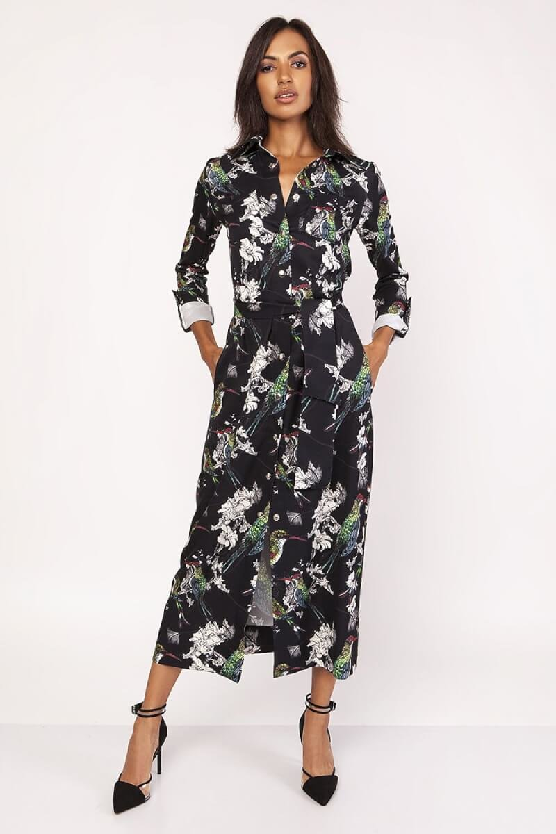 Muti-colour wrap dress