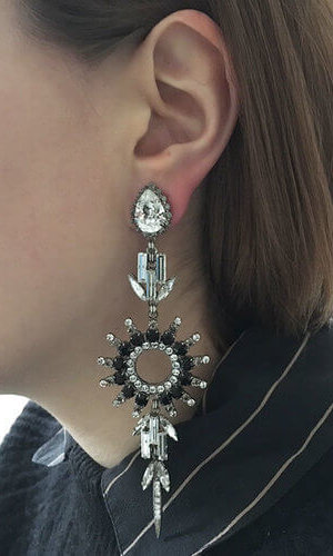Chrysler Black Earrings