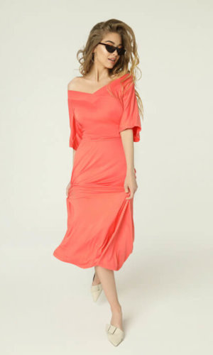 Evie Dress Coral