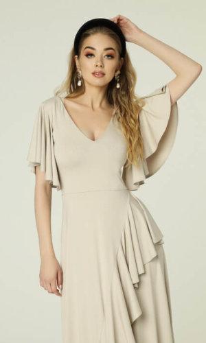 Juanita Dress Beige