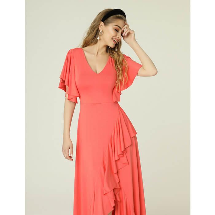 Juanita Dress Coral