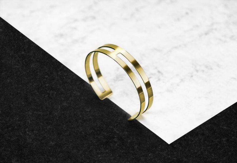 H Bracelet – 18K Gold Plated