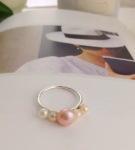 cluster ring, pearl ring